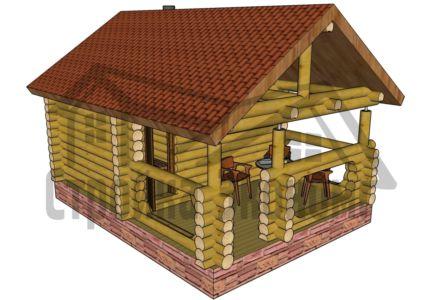 Баня 3,0 х 4,0 м с верандой 2,4х4,0 м
