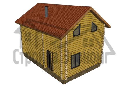 Дом 6,0 х 9,0 м двухэтажный